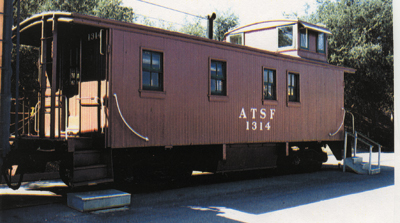 RailGiants Train Museum | Santa Fe Caboose #1314